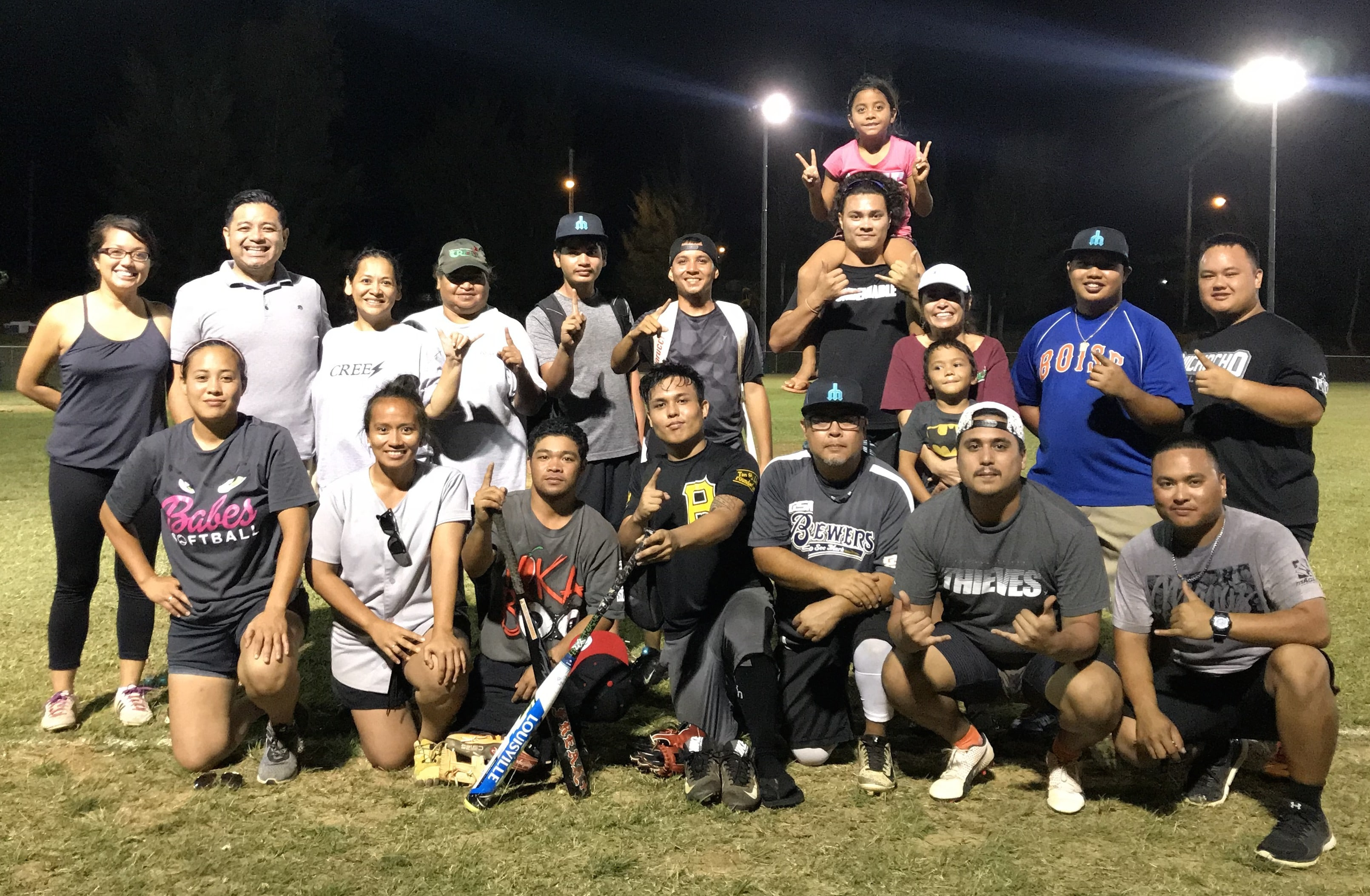 CREES Lightning: Northern Marianas College's Cooperative Research Education and Extension Services (CREES) recently won the 2018 NMC Softball Tournament held last weekend. The tournament, sponsored by the NMC Alumni Association, included teams from other departments at the College. The softball tournament was held in anticipation of NMC's Charter Day celebration, which will be held today, April 13, 2018 at NMC's South Field from 4:00pm to 10:00pm.