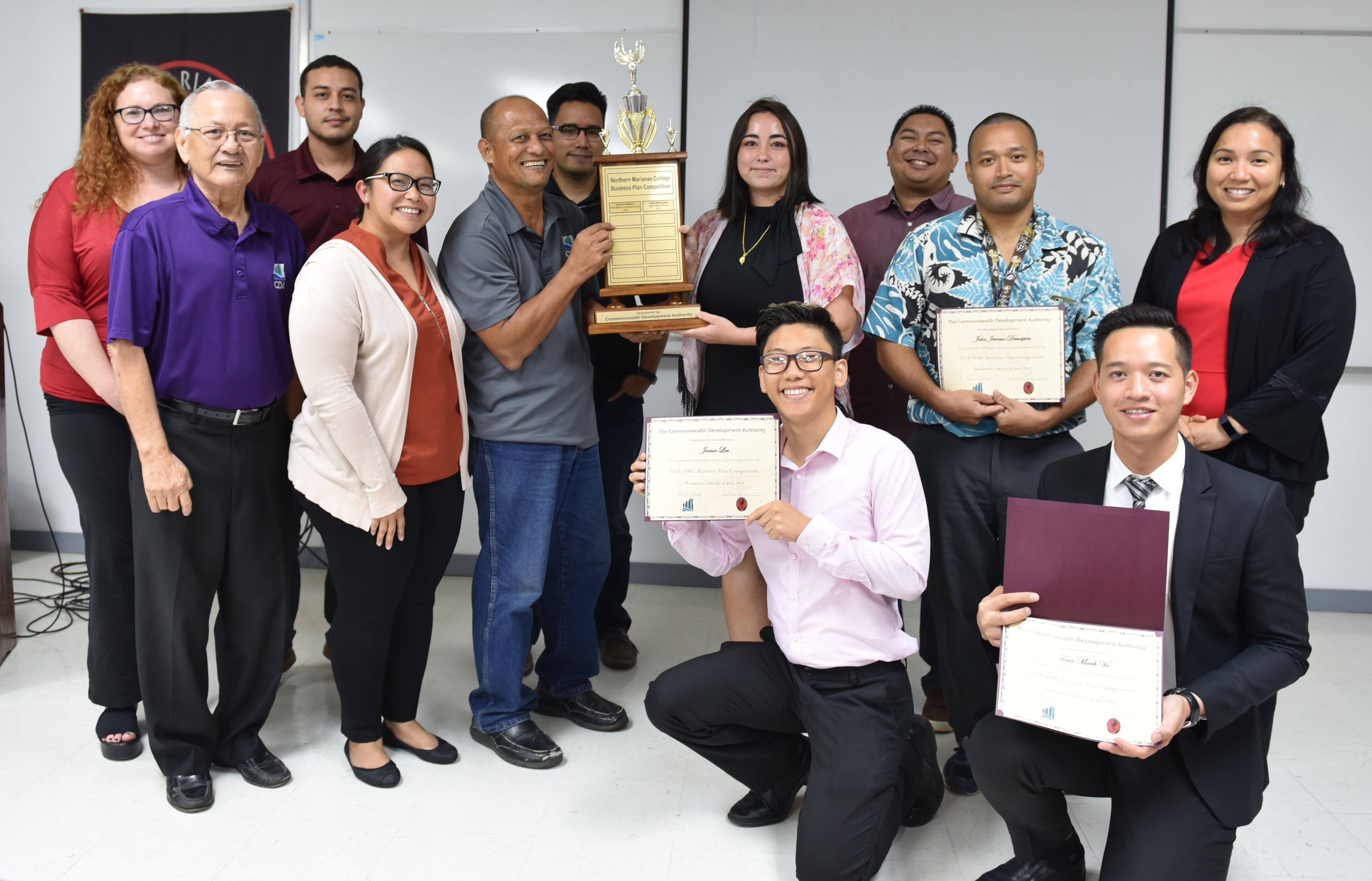 The business plan, written and prepared by Northern Marianas College student Jeane Bracken, earned Bracken a $1,000 scholarship provided by CDA. The competition was held on April 20, 2018.